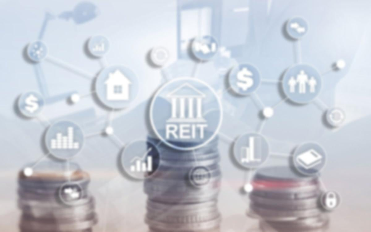 Real Estate Investment Trust REIT on double exposure business background