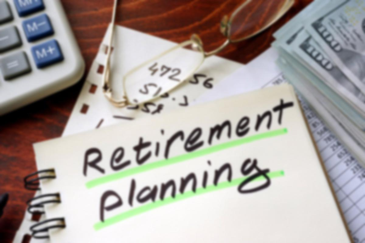 Retirement planning written on notebook