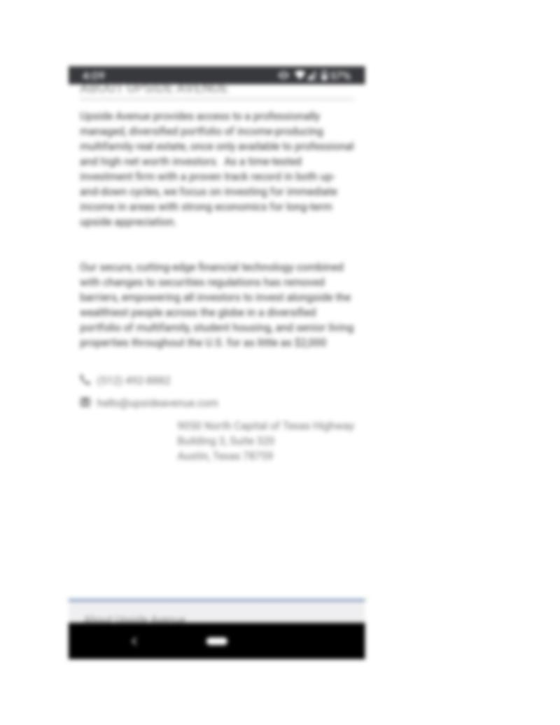 Upside Avenue investor portal mobile-5