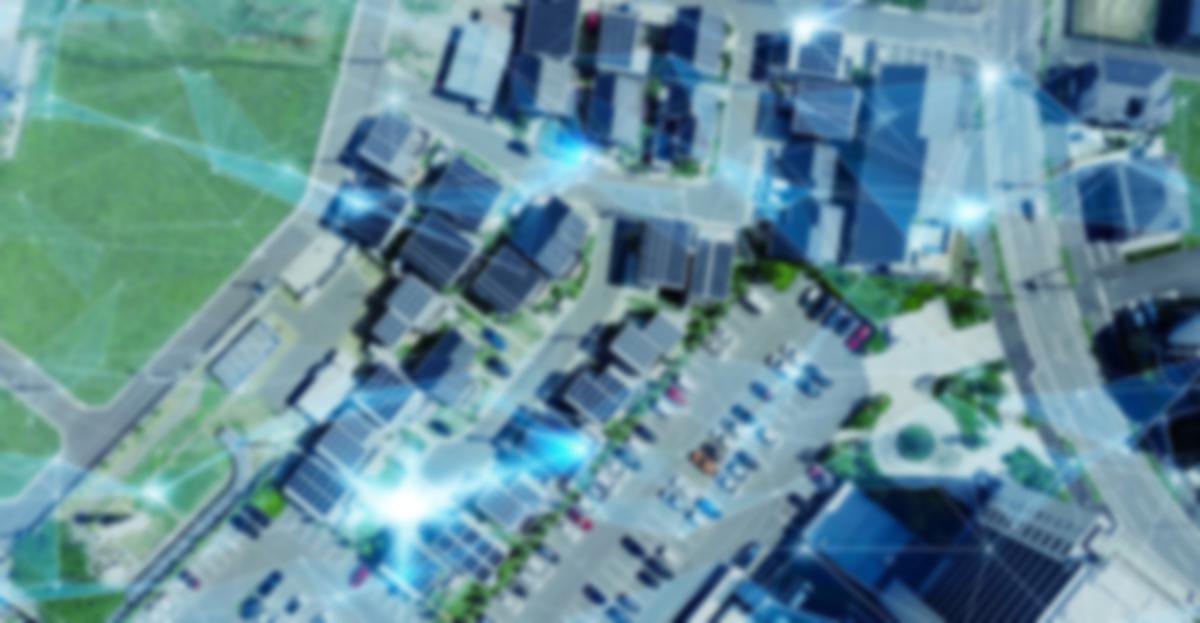 aerial buildings