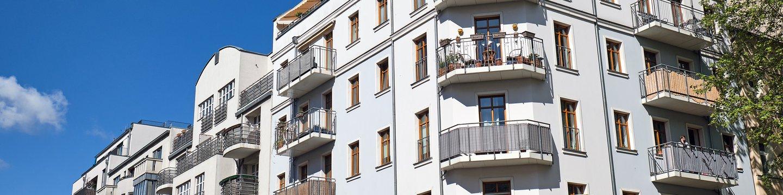 white apartment buildings