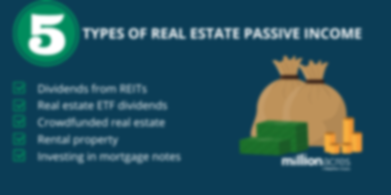 5 types of real estate passive income
