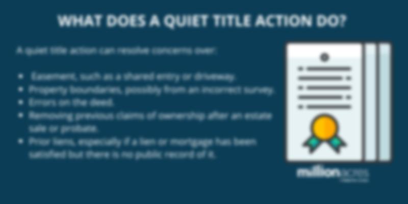 quiet title action