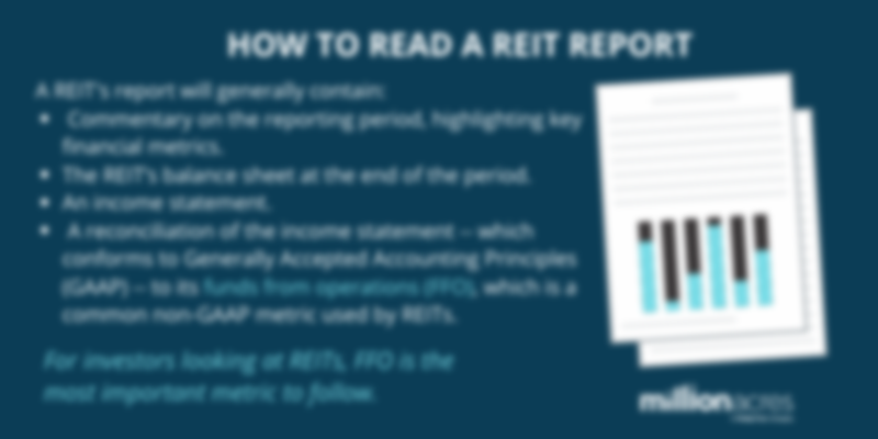 reading a REIT report