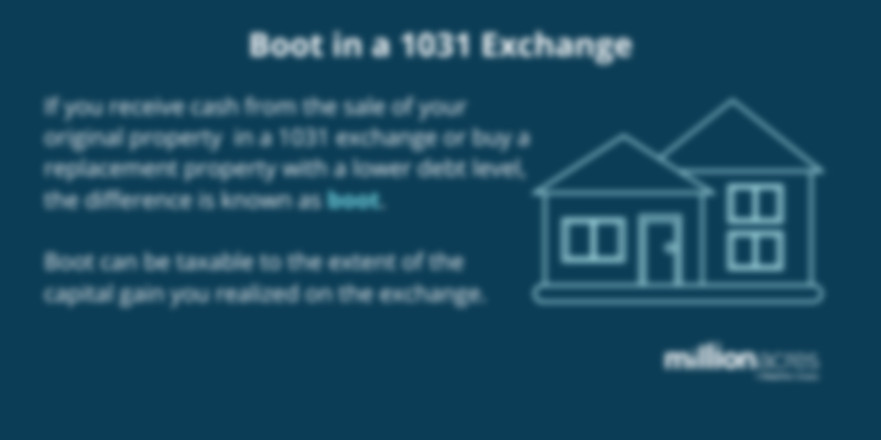 boot in a 1031 exchange