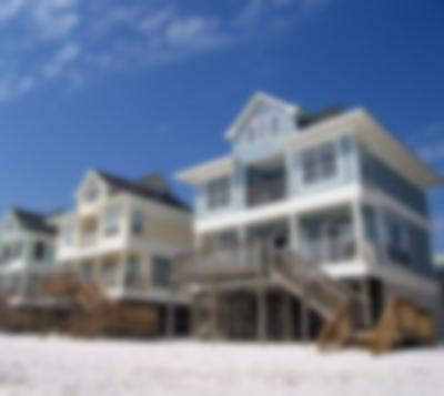 Vacation homes on the sand
