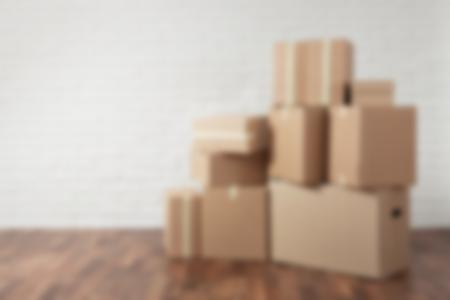 boxes against a white wall