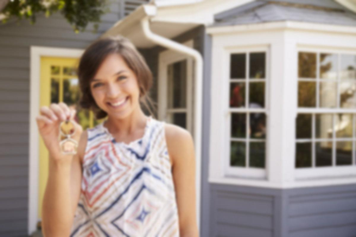 woman buying a home