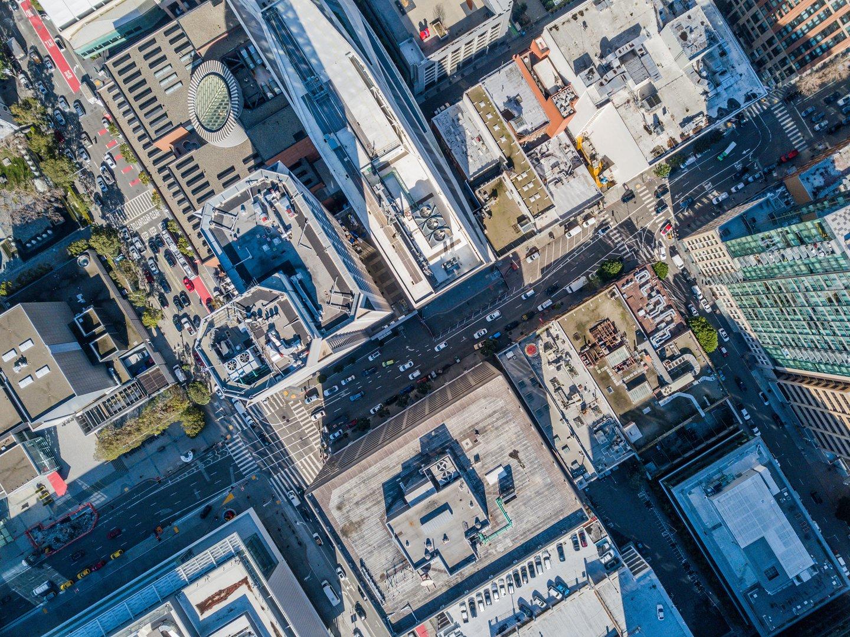 city overhead