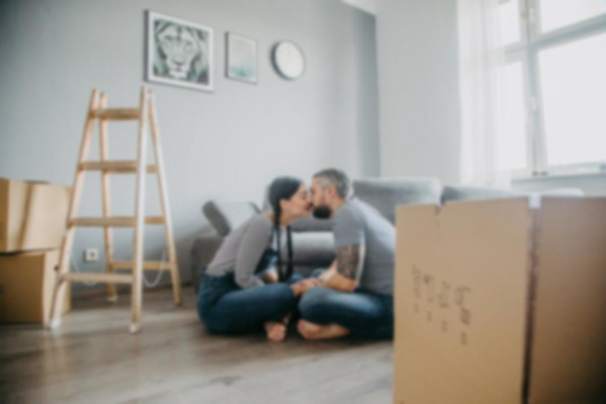 couple in a new house