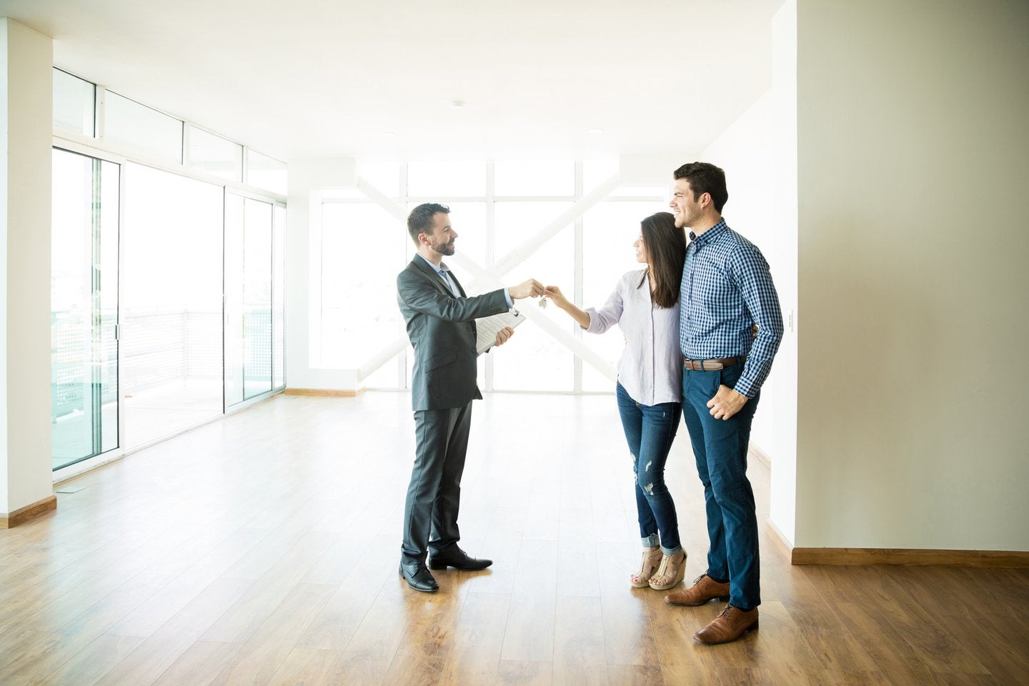 Couple renting or buying