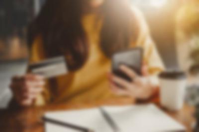 credit card woman