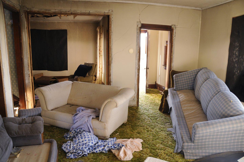 damaged apartment