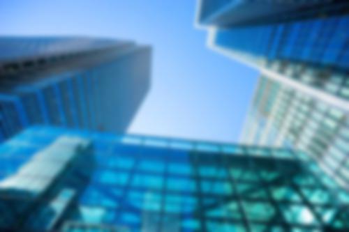 upward shot of skyscrapers
