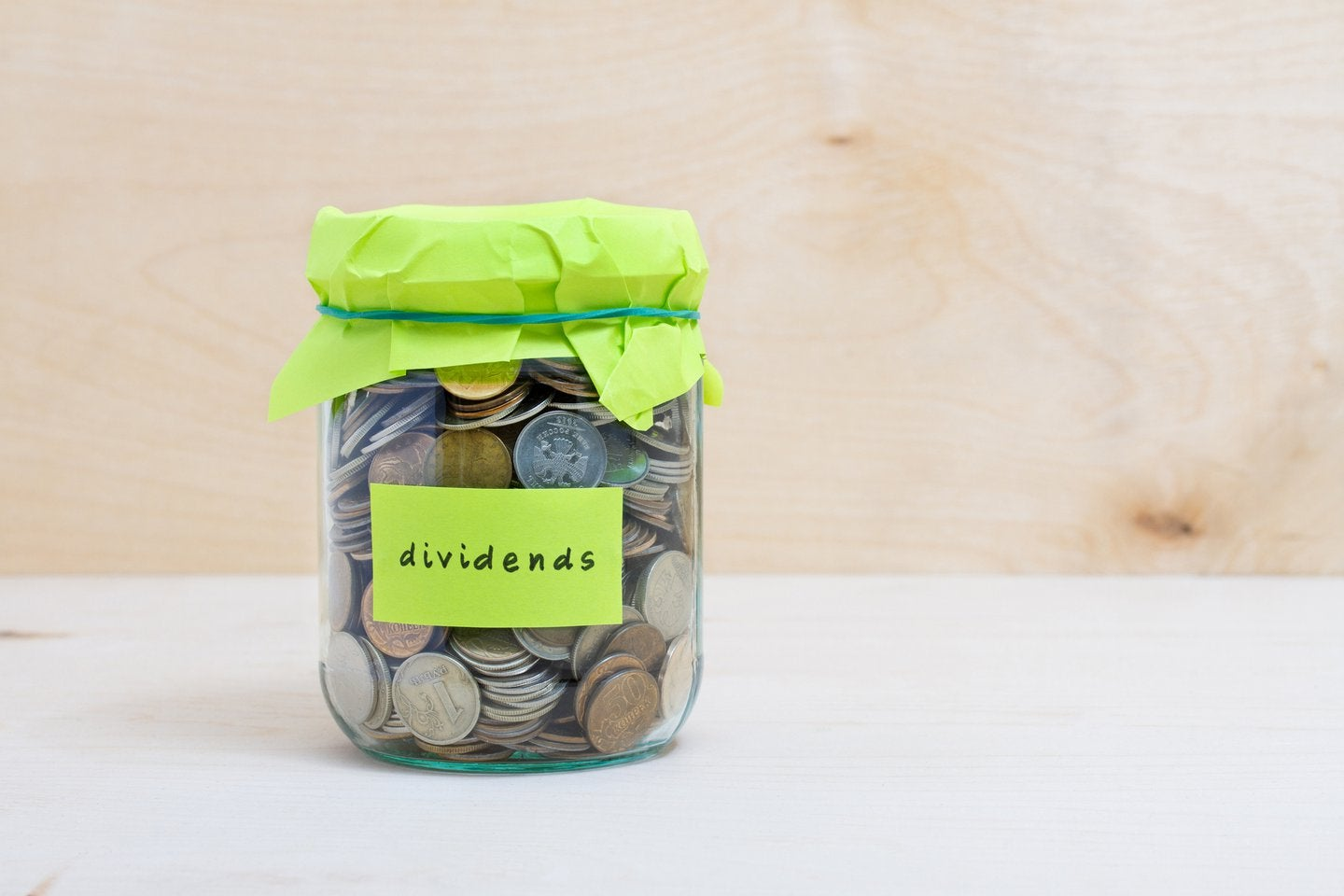 coin jar towards dividends