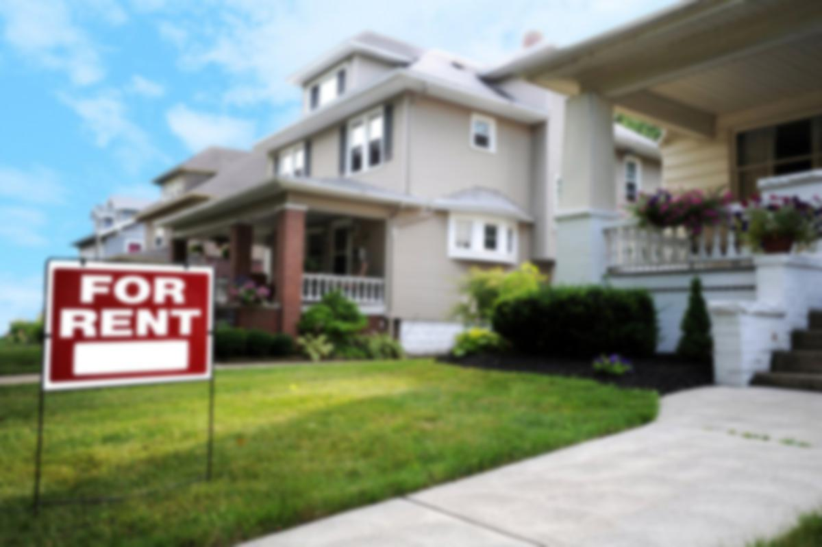 houses for rent sign