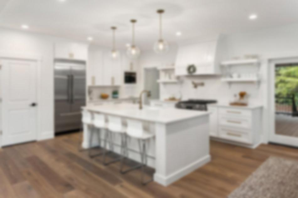 Open kitchen in a new home