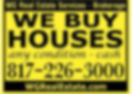 We Buy Ugly Houses sign