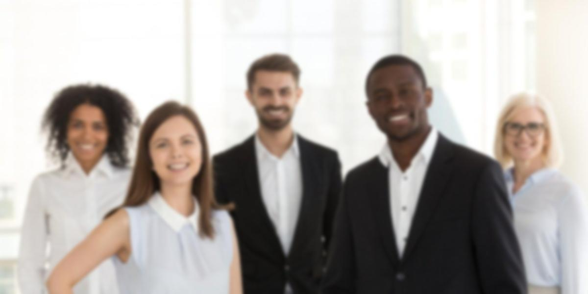 Business people standing in a group