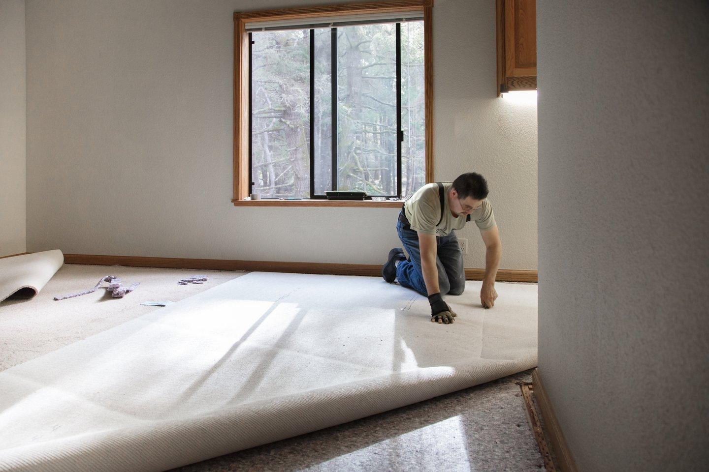 laying carpet