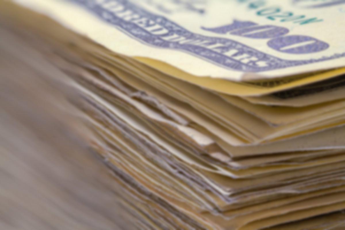 money stack dollars