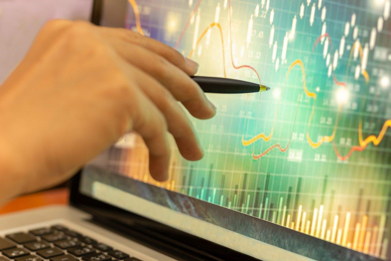 mortgage stocks computer graphic