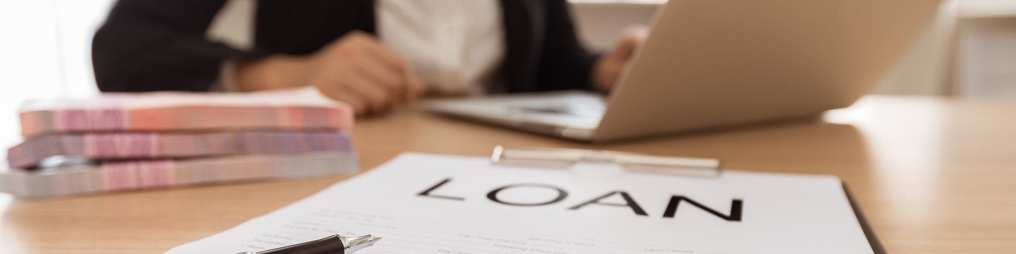 laptop and a loan application