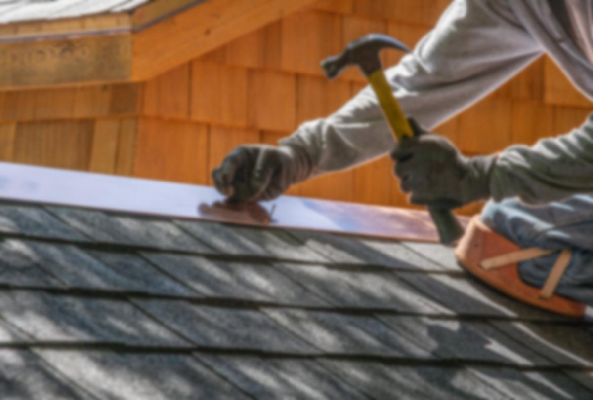 roof repair with hammer