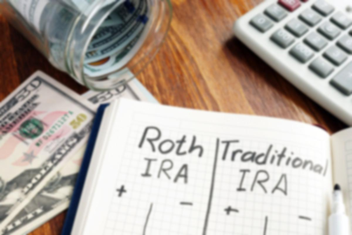 roth and traditional IRA chart