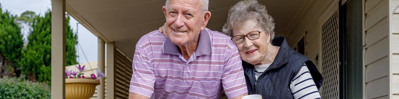 seniors on a porch