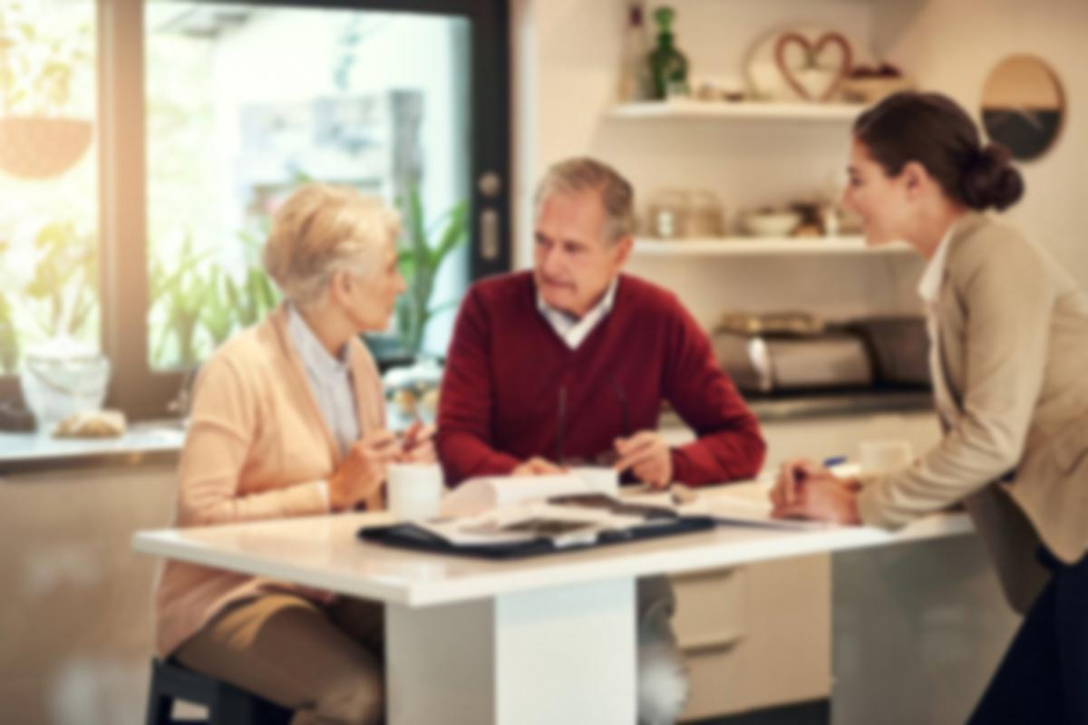 seniors talking finances