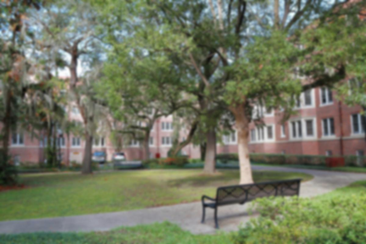 student housing and courtyard