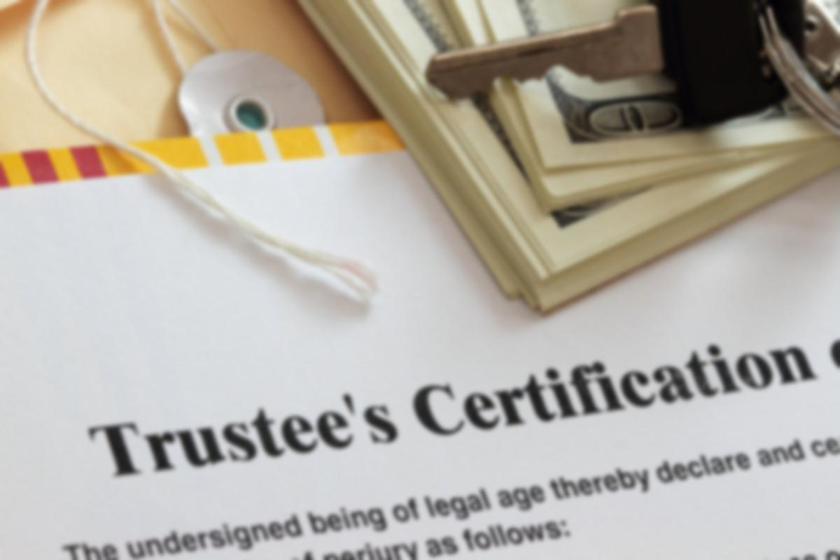 Trustee's Certification Legal Document
