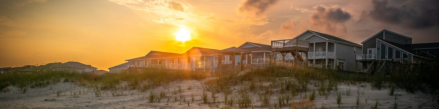 vacation house with sand dunes