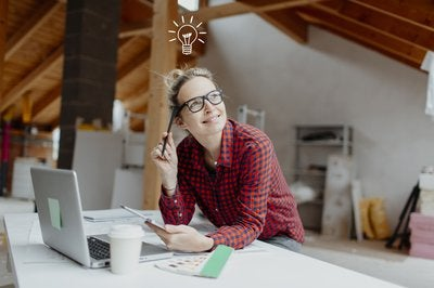 woman planning renovation