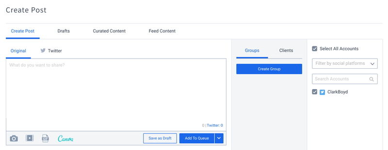 SocialPilot integration dashboard with Canva.