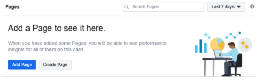 The Add Page screen for linking your business page to a new account.
