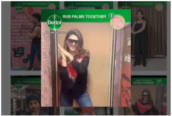 A screenshot of a viral social media campaign from Dettol India.