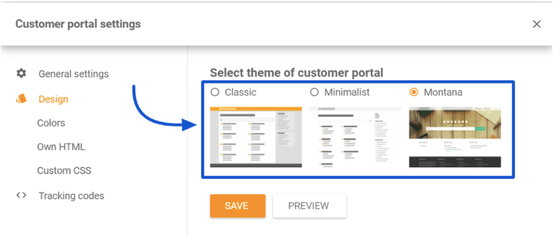 The general settings and theme options for your LiveAgent customer portal.