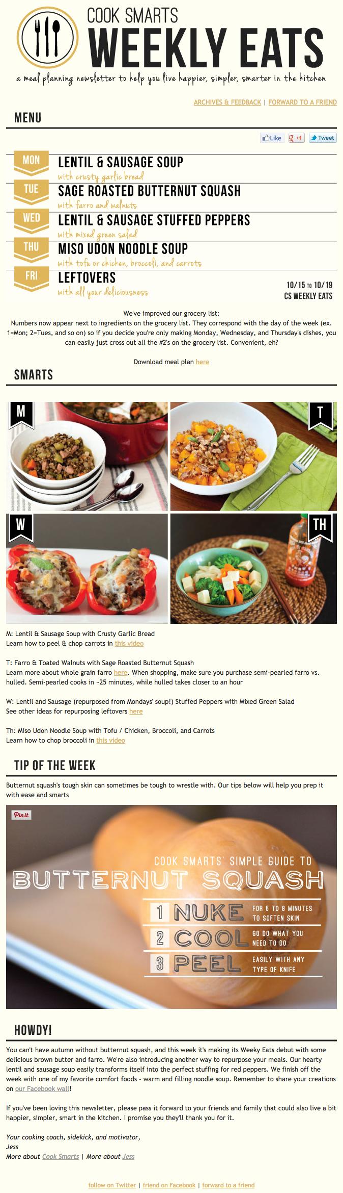 Cook Smarts newsletter