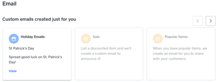 Weebly's custom email template