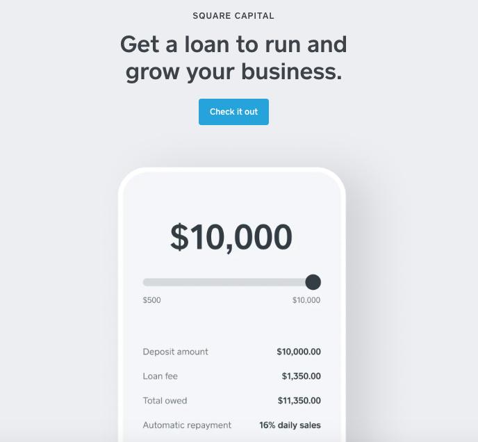 Square Capital business loan