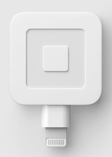 The most basic Square swipe card reader that plugs directly into a smartphone.