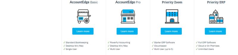 AccountEdge Pro Pricing Option Screen
