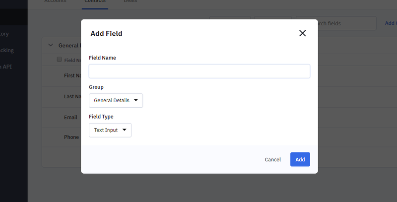 ActiveCampaign Contact Field Example