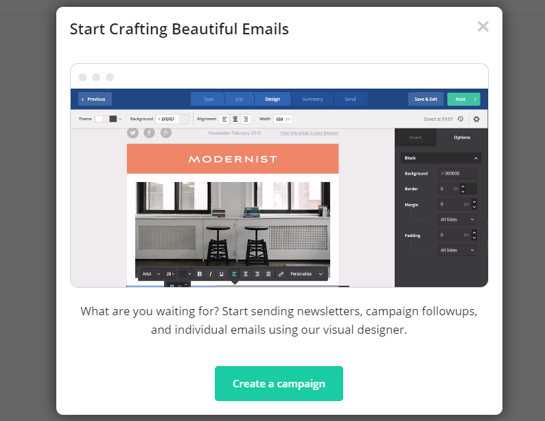 ActiveCampaign Crafting Emails Example