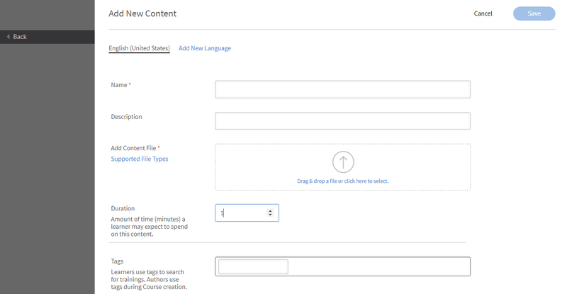 Captivate Prime's Add New Content feature.
