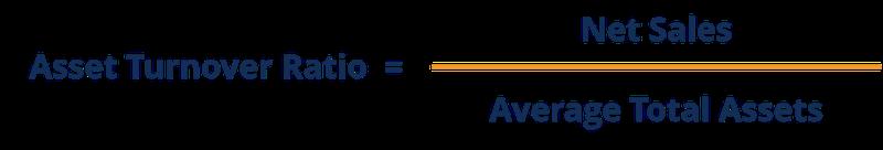 Asset turnover ratio formula