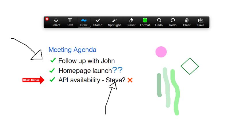 Zoom Meetings' whiteboard