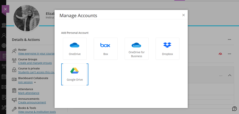 Learn's management tool for connecting to cloud services.